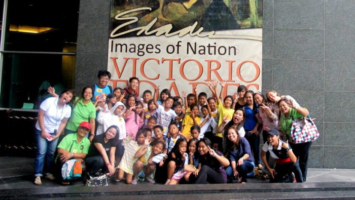 Birthday tour with kids from Payatas at Ayala Museum