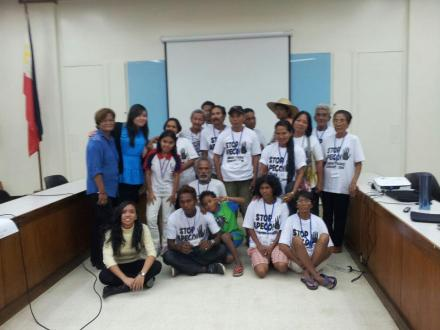 The talk in Ateneo with farmers, indigenous group, and fisherfolks