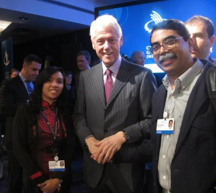 With Pres. Clinton during CGI 2012