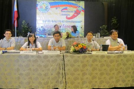 The majority floor leaders of the 9th National Youth Parliament