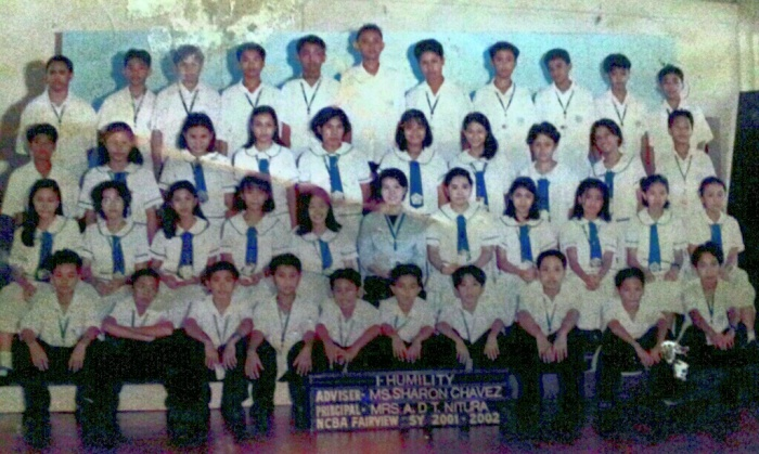 1st year section Humility with adviser Sharon Chavez